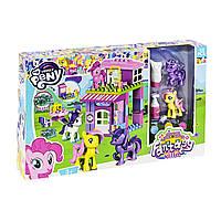 Игровой набор - Конструктор Замок Домик Литл Пони (my Litlle Pony) свет, 52 детали, фигурки пони, 5723 (8723)