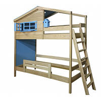 Дитяча двох'ярусна ліжко Будиночок Звіздаря, фото 1