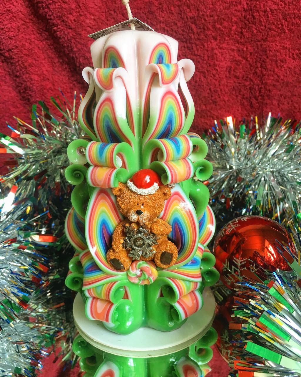 Новогодняя резная свеча  для подарка родным и близким Вам людям от Elite Candles