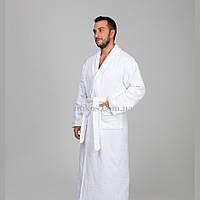 Мужской халат XL, махровый,белый,100% хлопок