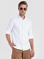 Белая мужская рубашка LC Waikiki / ЛС Вайкики с карманом на груди