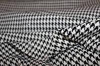 Тонкая золотая нить. Ткань плотная жакетная, формодержащая (без эластана) №380 гусиная лапка, фото 1