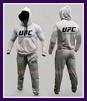 """Мужской Спортивный костюм UFC GRAY """"В стиле"""" серый"""