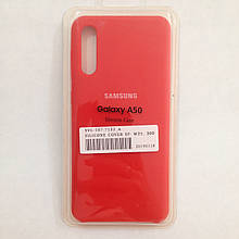 Чехол Samsung A50 Silicon Case Red