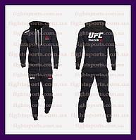 """Мужской Спортивный костюм UFC REEBOK Black PRO """"В стиле"""" черный"""