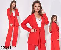 Стильный костюм прямые брюки + удлиненный пиджак р.42,44,46