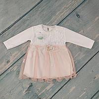 Платье нарядное для новорожденного, р. 3-6 мес,, велюр