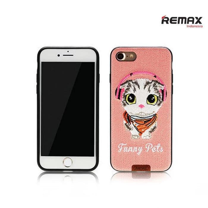 Чехол Remax Funny Pets iPhone 7 Pink