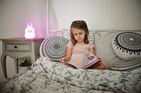 Силиконовый ночник детский Click Зайчик (ночные зверята) 14 см