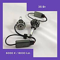 Комплект светодиодных LED ламп T6-H1 Turbo LED (Автомобильные лампы Т6)