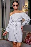 Платье прямого покроя белое 3470, фото 2