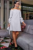 Платье прямого покроя белое 3470, фото 3