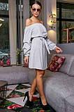 Платье прямого покроя белое 3470, фото 4