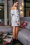 Платье прямого покроя белое 3470, фото 5