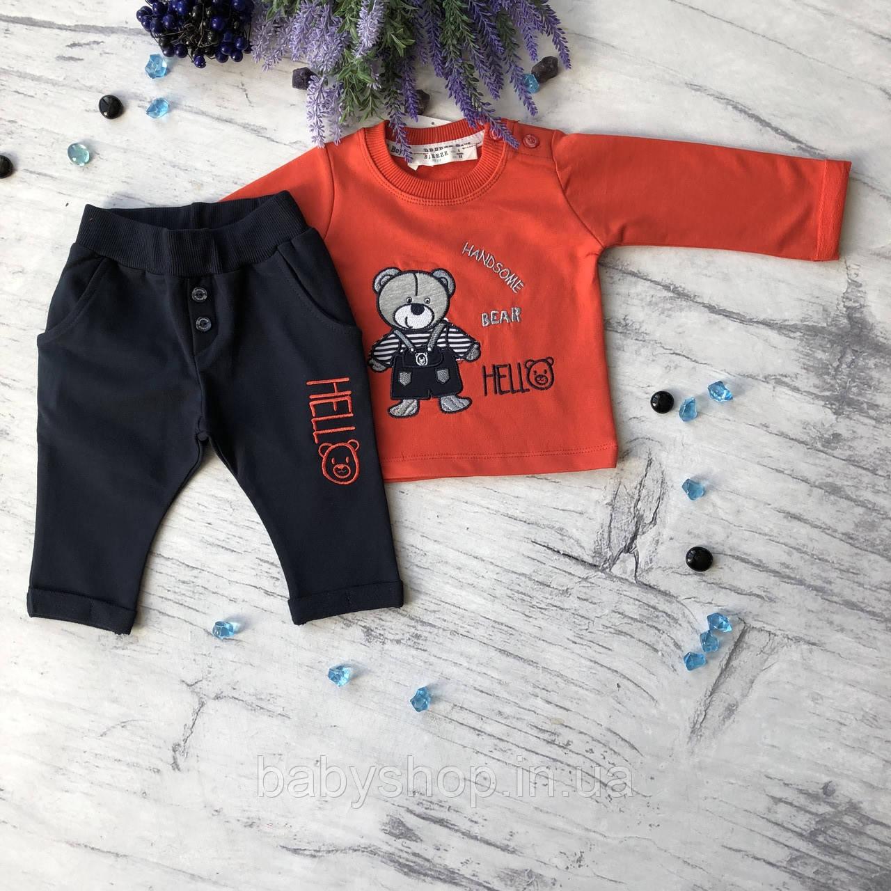 Красный костюм на мальчика Breeze 144. Размер 68 см, 74 см, 80 см, 86 см, 92 см