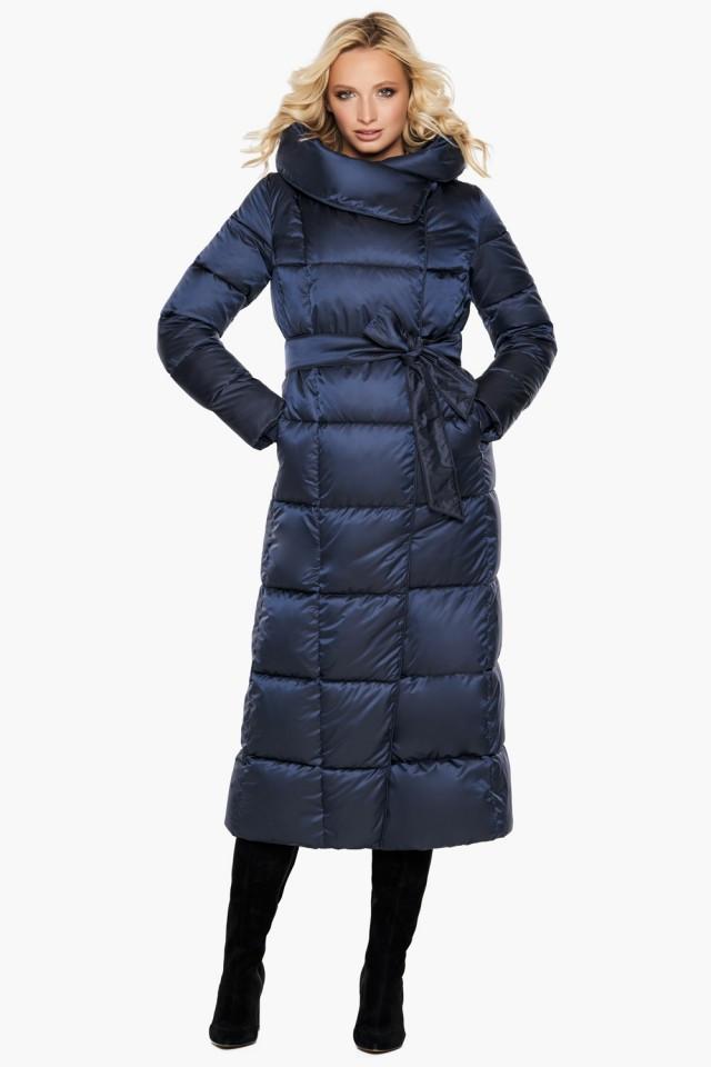 """Воздуховик женский модный на зиму Braggart """"Angel's Fluff"""" синий размер 40 42 44 46 48 50 52 54 56 58 60"""
