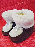 Детские домашние сапожки из искусственного мутона, фото 2