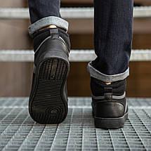 Кеди чоловічі зимові Вінтаж чорні 42, 44 розміри, фото 3