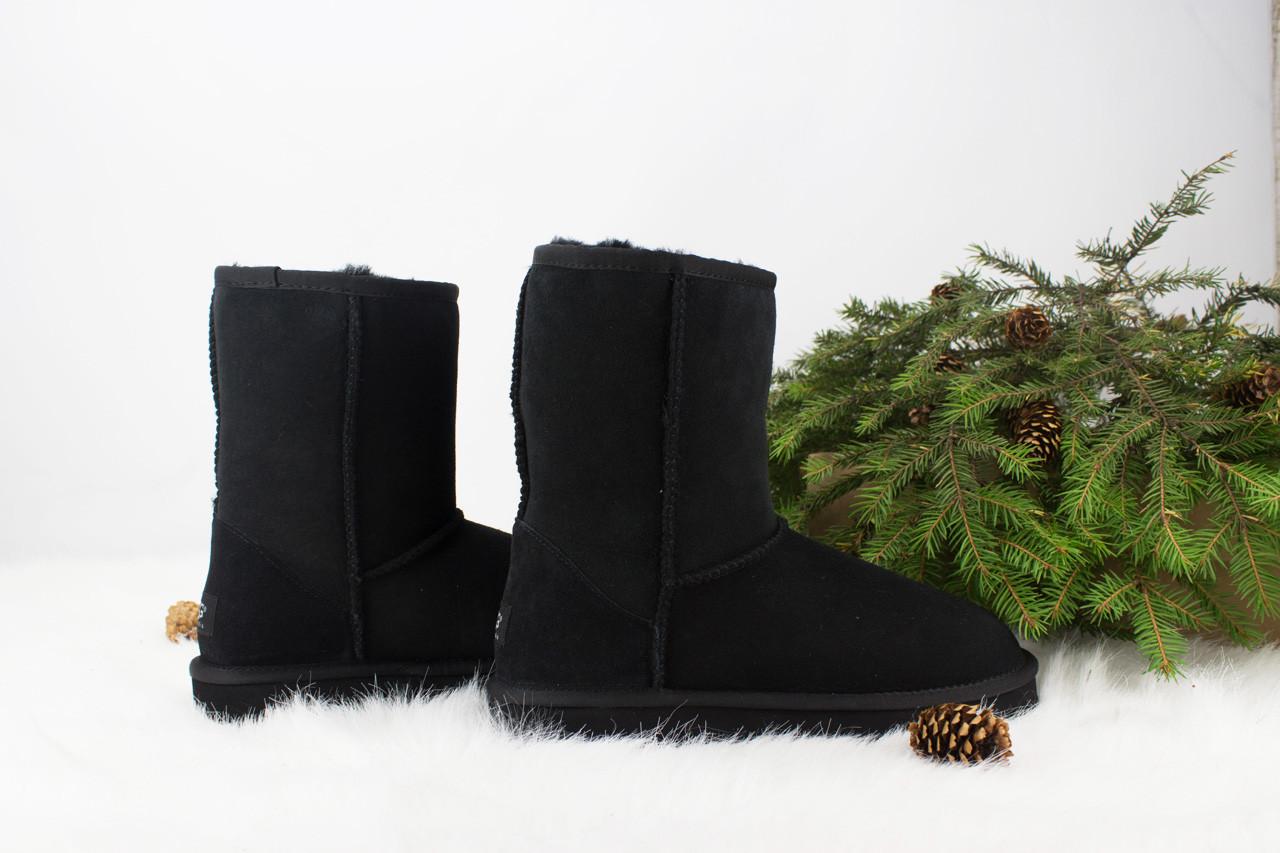 Оригинальные угги женские короткие UGG Classic Short Black | Угги Австралия классик шорт зимние