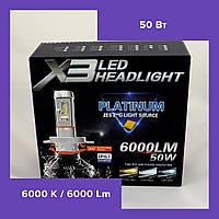 LED Лампы LED X3 Philips 50W (H7) (Автолампы с активным охлаждением)