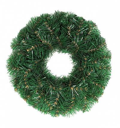 Декор Венок Новогодний Рождественский Из Искусственной Хвои 32х12см (ProFit43), фото 2