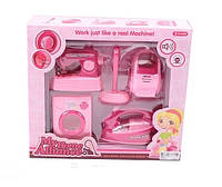 Игровой детский набор Бытовая техника 6604-1 для девочки розовая