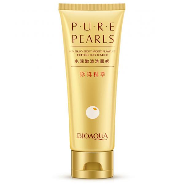 Пенка для умывания и очищения лица BioAqua Pure Pearls на основе жемчужной пудры 100 мл