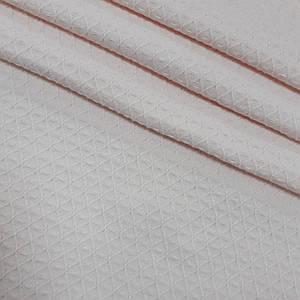 Вафельное полотно плетение ромбики, цвет светло-розовый (шир. 2,30 м)