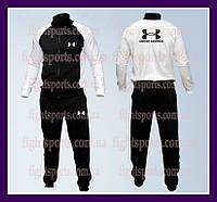 """Мужской Спортивный костюм UNDER ARMOUR White NEW """"В стиле"""" черный , белый"""