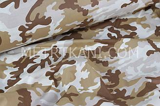 Хлопковая ткань камуфляж коричневых тонов  №615