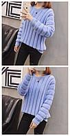 Трикотажный женский свитер травка 44-46 (в расцветках)