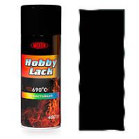 Термостойкая аэрозольная краска Hobby Lack. 400 мл. Черная 920