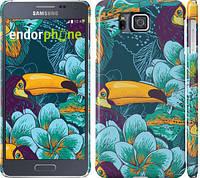 "Чехол на Samsung Galaxy Alpha G850F Тропики ""2852c-65"""