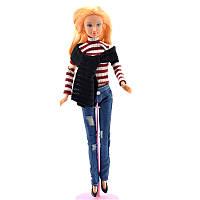 Кукла Defa в полосатом свитере  (8366)