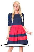 Красивое женское платье приталенного покроя .р-ры 40  42  44  Модель с неглубоким округлым вырезом горловины и