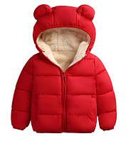 "Демисезонная куртка""меховушка"" размер 86."