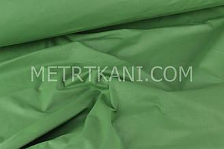 Однотонная польская бязь зеленого цвета  135 г/м2  №560