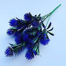 Искусственный, декоративный куст. Репей декоративный фиолетовый., фото 2