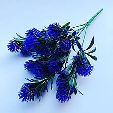Искусственный, декоративный куст. Репей декоративный фиолетовый., фото 3