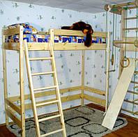 Двухъярусная кровать чердак высотой - 187см, фото 1