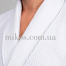 Мужской халат XL, вафельный,белый,100% хлопок, фото 2