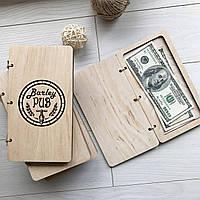 Оригинальные коробочки для счета из дерева с логотипом