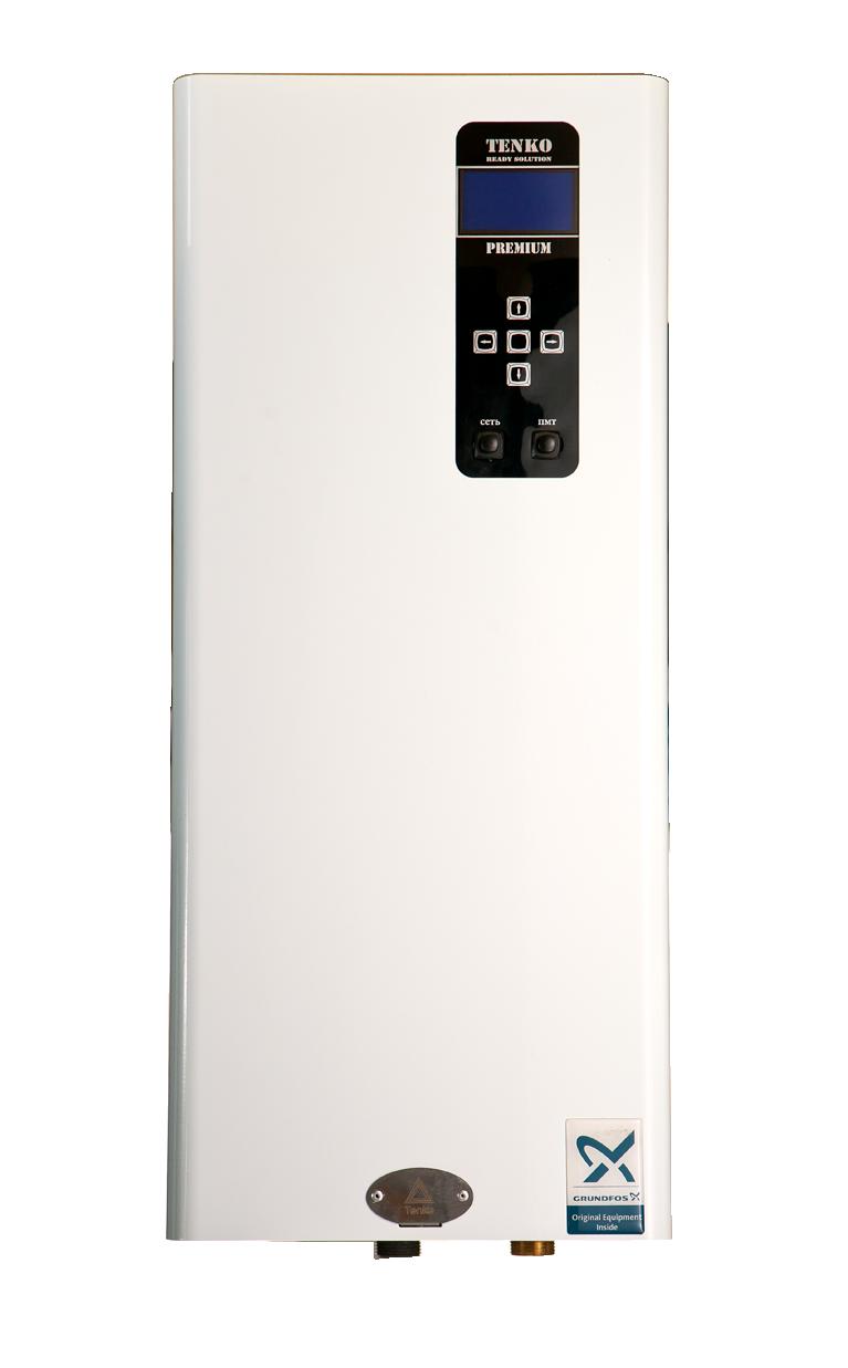 Электрический котел TENKO Премиум 7,5 кВт ~ 380В + насос GRUNDFOS