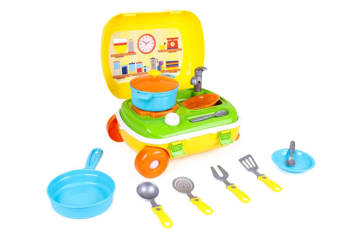 Игрушечная кухня в чемодане ТехноК 6078 набор посуды