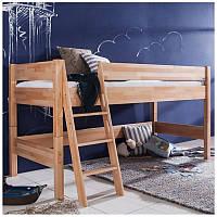 Детская кроватка чердак из бука с лестницей, фото 1