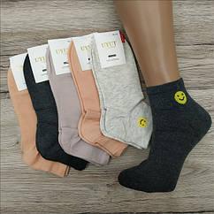 Носки женские средние деми UYUT women cotton socks хлопок 36-41р.бесшовные с двойной пяткой ассорти НЖД-021361