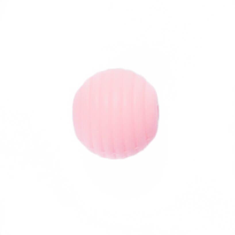 Волнистая 15мм (роза кварц) круглая, силиконовая бусина