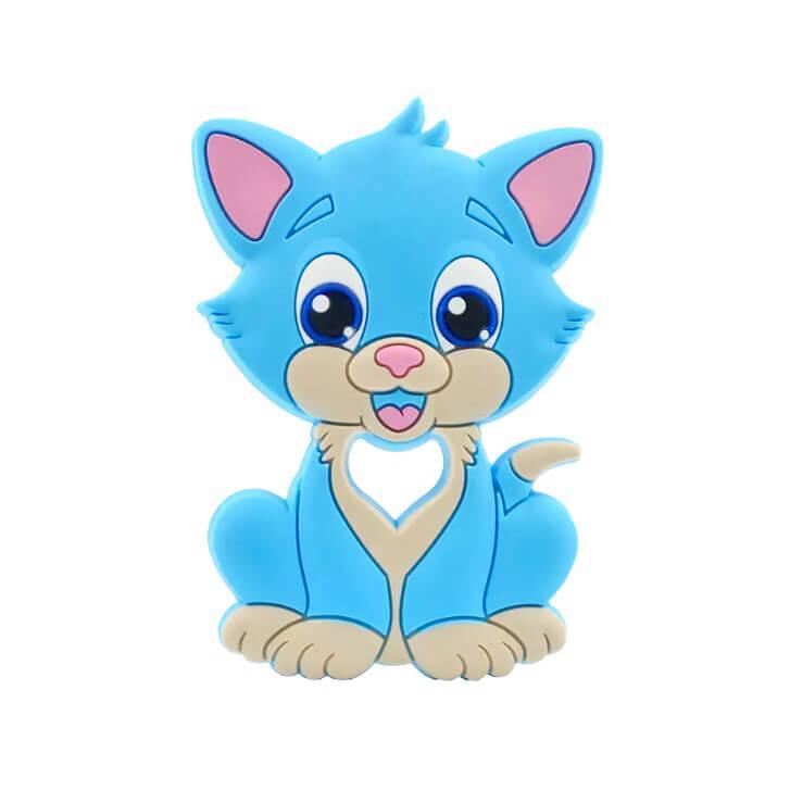 Котик ТОМ (голубой) прорезыватель для зубов