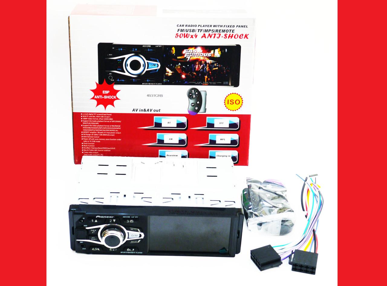 Автомагнитола MP5 Pioneer 4031 экран 4.1 Bluetooth AV-in