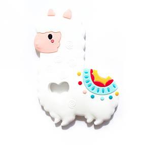 Альпака лама (белый) , силиконовый прорезыватель для зубов